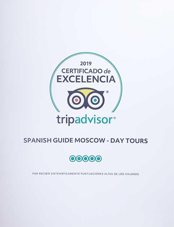 Guía de Moscú Nikolay. Certificado de excelencia de TripAdvisor