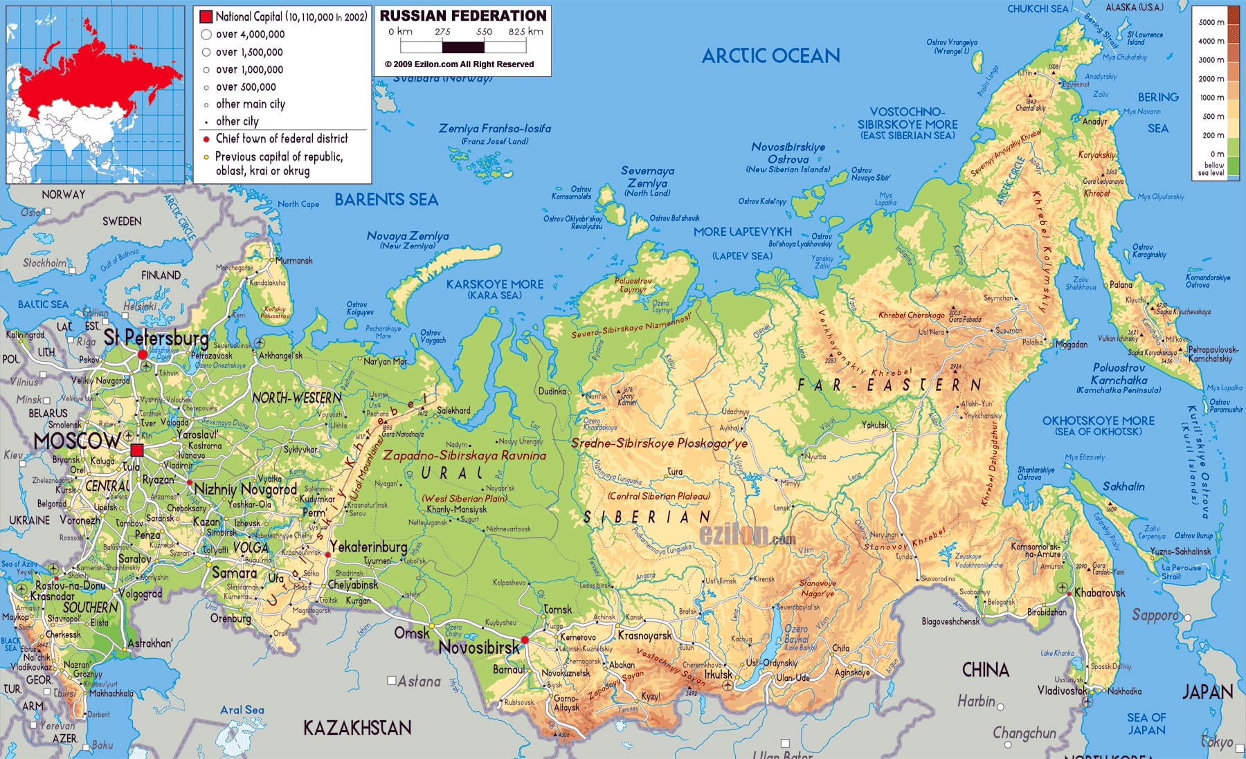 Ciudades De Rusia Mapa.Mapas Y Planos De Moscu Y Esquemas Del Metro Guia Turismo